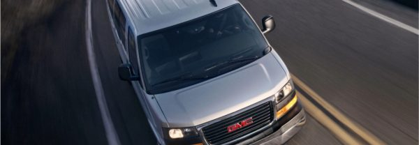 Aerial view of 2019 GMC Savana Passenger Van