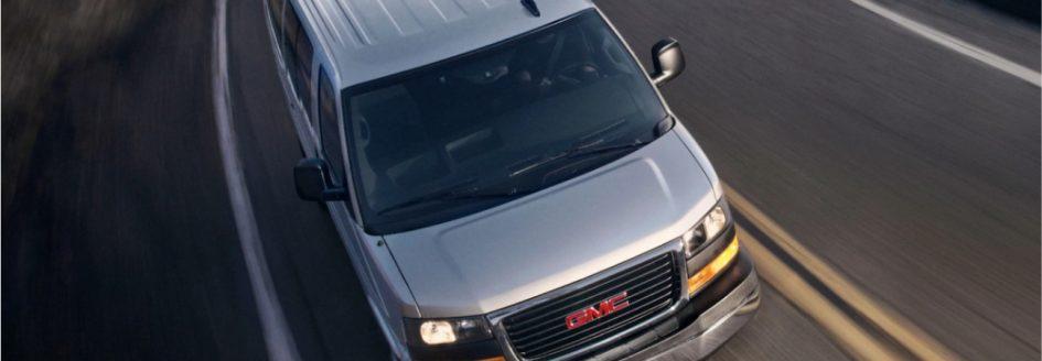 Aerial view of 2019 GMC Savana Passenger Van