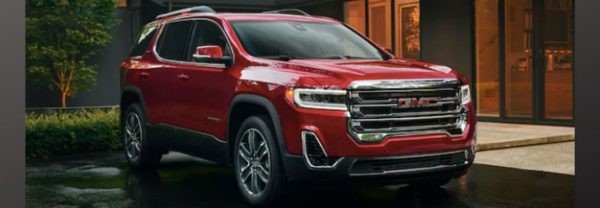2020 GMC Acadia parked in front of home